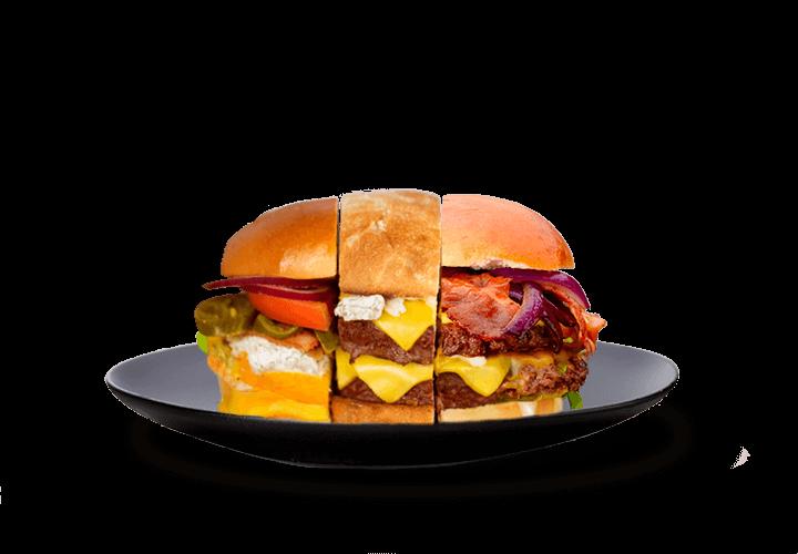 Personaliza la hamburguesa a tu gusto
